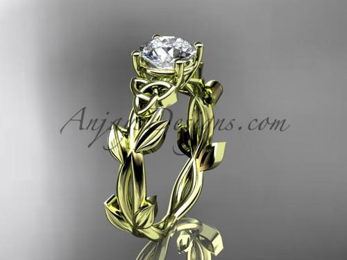 Handmade Celtic Engagement Yellow Gold Ring CT7522