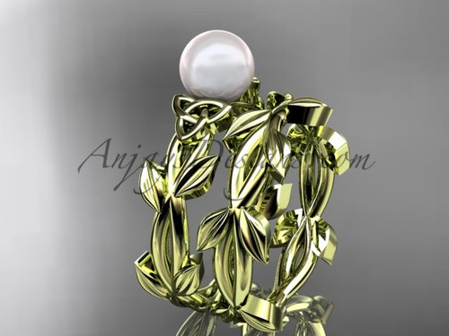 Celtic Pearl Engagement Sets - Yellow Gold Set CTP7522S