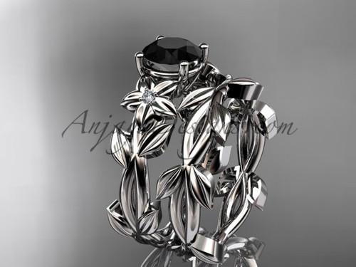 Black Diamond Wedding Sets - Platinum Wedding Set ADLR424S