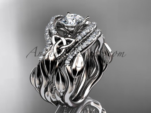 White Gold Double Band Engagement Ring CT7326S