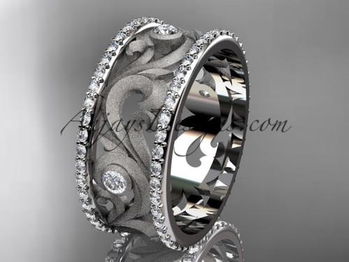 platinum diamond engagement ring, wedding band ADLR121BA