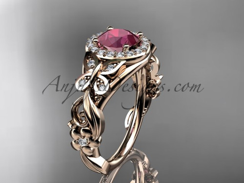 July's Birthstone Rings  - Ruby Engagement Rings ADRB525