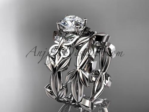 Butterfly Bridal Sets - Platinum Diamond Ring ADLR526S