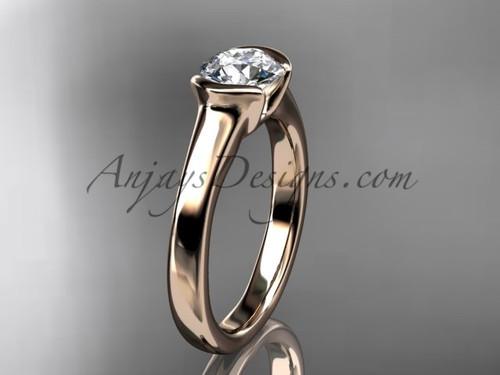 Unusual Engagement Rings Rose Gold Vintage Ring VD10016