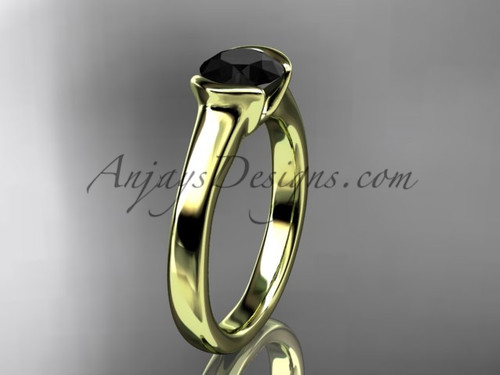 Unusual Wedding Rings Yellow Gold Proposal Ring VD10016