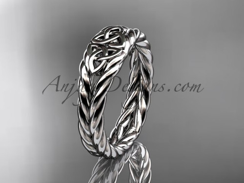 Twisted rope wedding band - platinum celtic ring RPCT9603G
