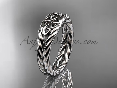 Twisted rope wedding band - platinum celtic ring RPCT9603G
