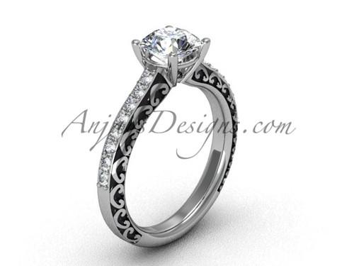 Engagement Rings for Women's , White Gold Bridal Ring SGT629