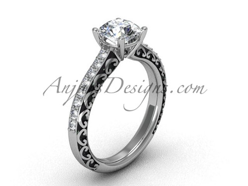 Platinum Engagement Rings, Women's  Bridal Ring SGT629