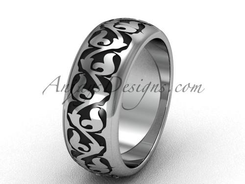 Platinum engagement ring, simple wedding band SGT650