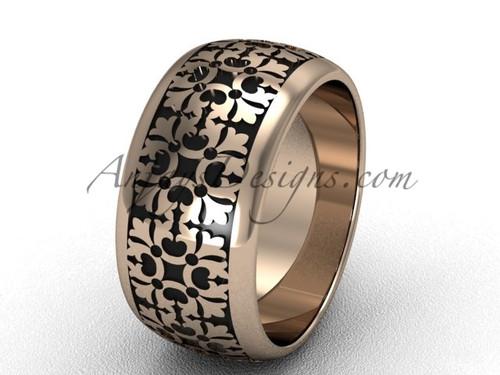 Unusual Wedding Band, Rose Gold Modern Bridal Ring  SGT652