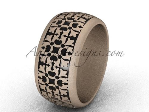 Unique Wedding Band, Rose Matte Gold Proposal Ring  SGT652