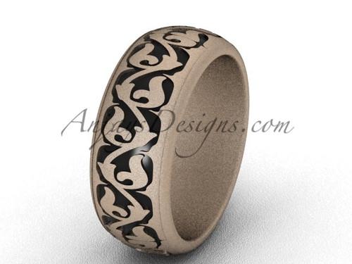 Matte Gold Wedding Band for Men, Nice Bridal Ring SGT650