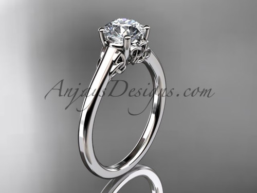 Celtic Knot Bridal Ring, Platinum Triquetra Ring CT7426