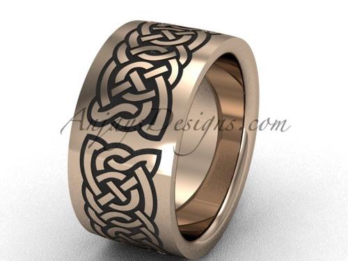 Beautiful wedding band for men, rose gold unusal ring SGT607