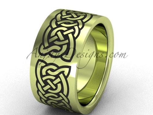 Yellow gold wedding band, beautiful wedding ring SGT607