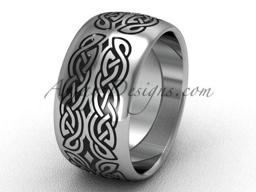 Modern Rings, Platinum Proposal Wedding band, 10 mm wide Band SGT608G