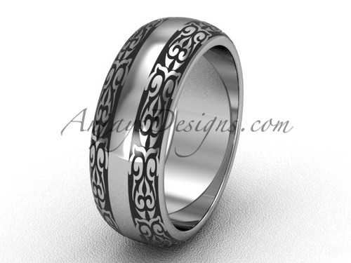 Dream Bridal Rings, Platinum 7.0 mm wide Wedding Band, Simple Band SGT643G