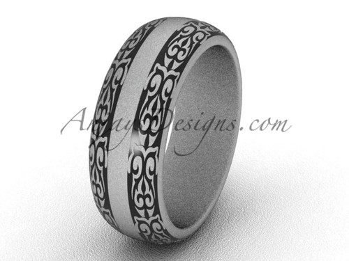 Beautiful Engagement Rings, Matte Platinum Wedding Band and Engagement Ring SGT643G