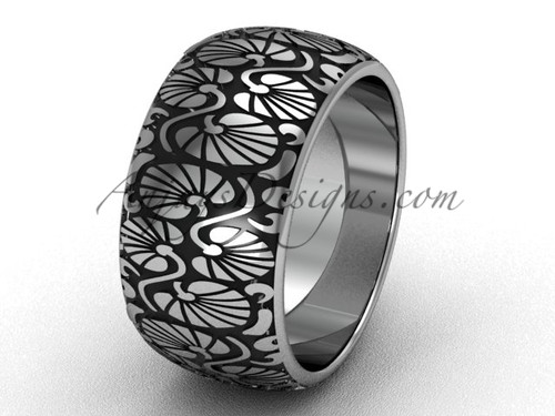 Beautiful Marriage Ring, White Gold Bridal Ring Band SGT644G