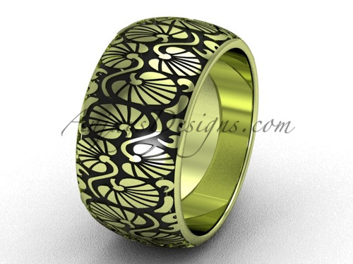Beautiful Engagement Ring, Yellow Gold Wedding Band SGT644G