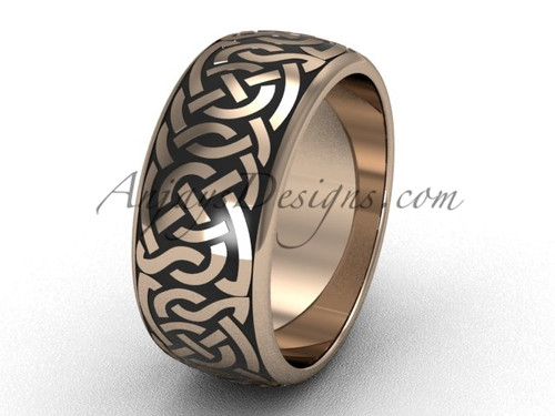 Rose Gold Braided Wedding Ring for Men's and Women's SGT649G