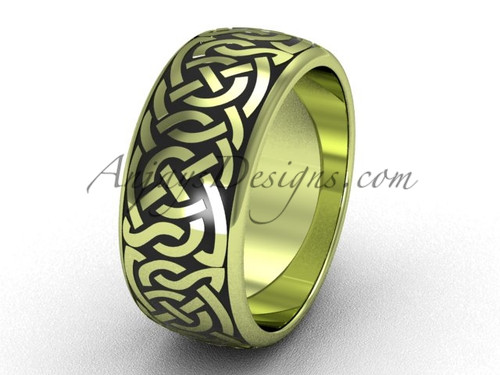 Cool Wedding Ring Bands - Yellow Gold Man's Ring SGT649G