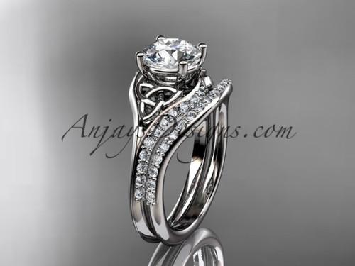 Wedding Rings for Women, Celtic Bridal Set  CT7125S