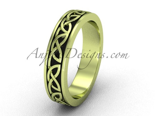 Unique Marriage  Rings - Yellow Gold Celtic Wedding Band CT7428G