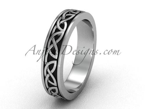 Unique Platinum Engagement Rings - Celtic Wedding Band CT7428G