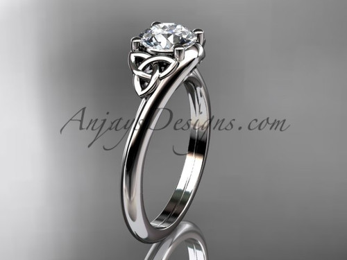 Unusual Engagement Rings - Irish Gold Triquetra ring CT7433