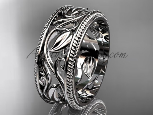 Leaf Branch Wedding Band, Anniversary Engagement Ring for Her  ADLR542G