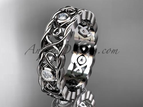 Celtic Wedding Band for Mens, Designs of Platinum Bands CT7545G