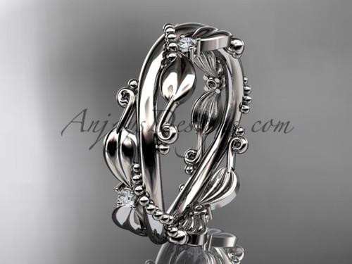 Diamond Wedding Bands - Leaf Rings for Ladies ADLR555B