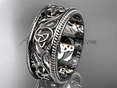 Irish Celtic Bridal Rings , Designs of White Gold Bands CT7556G