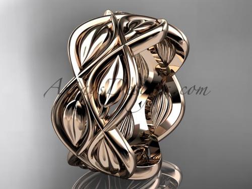 Rose Gold Bands - Wedding Band Ring for Men ADLR568G