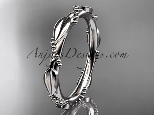 platinum ring design for female without stone engagement ring, wedding band ADLR178B