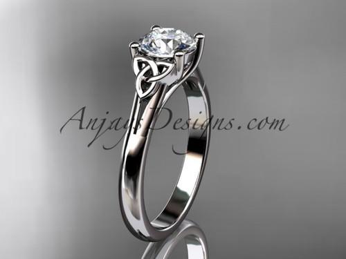 Celtic Trinity Knot Wedding Ring, Platinum Ring CT7154