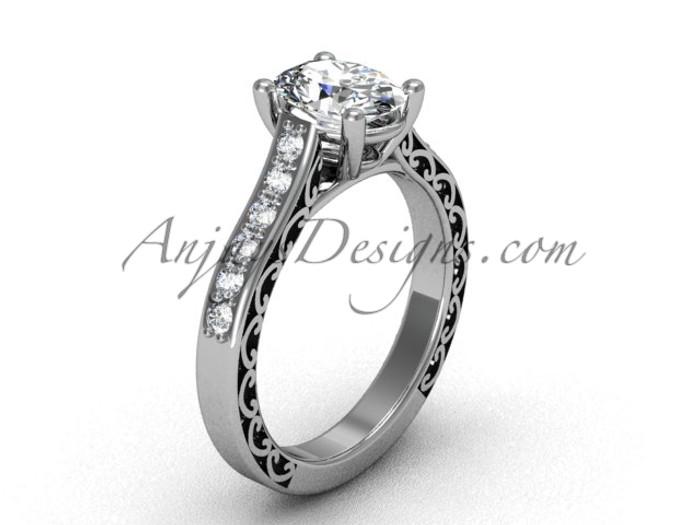 Moissanite Bridal Ring For Womens White Gold Ring Sgt632
