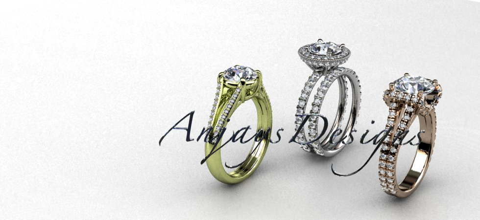 Unique Engagement Rings, Wedding Rings , Bridal Rings | AnjaysDesigns.com