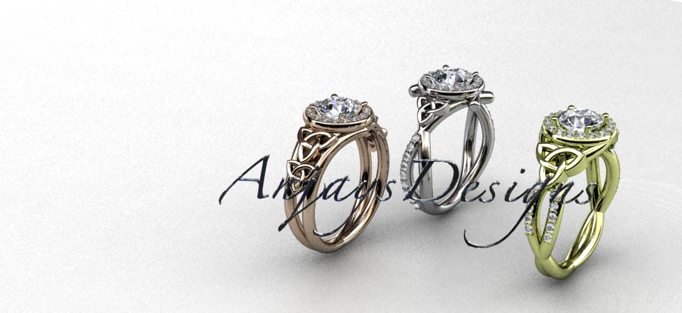Celtic Bridal Rings, Engagement rings  | Anjaysdesigns.com