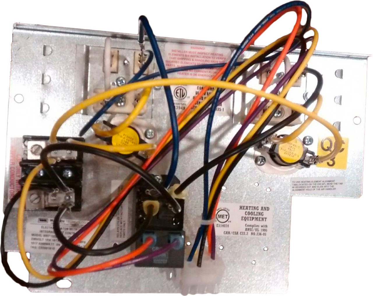 carrier bryant payne 10kw electric heat strip 230 1 ce0901n10 wkf1002 International Comfort Products Wiring Diagram