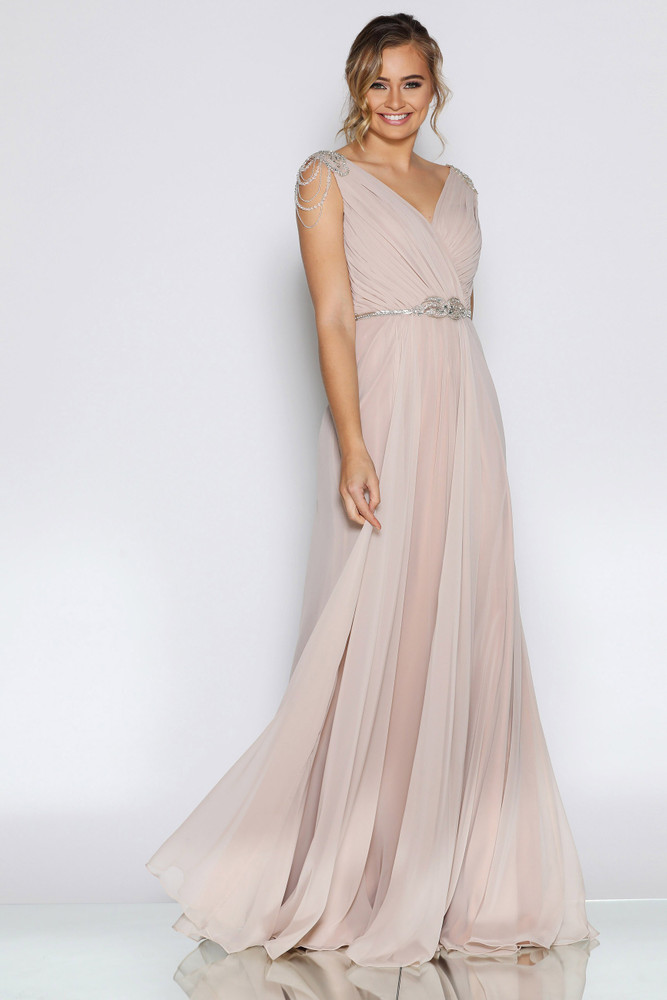LANA GOWN TAUPE - LES DEMOISELLE