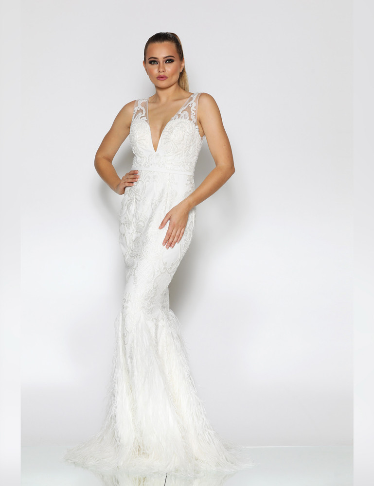 TIFFANY GOWN WHITE - JADORE