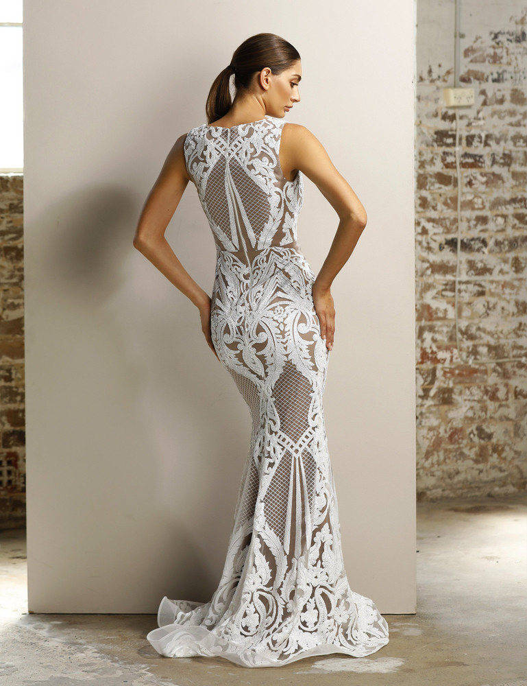 CARDI GOWN WHITE - JADORE