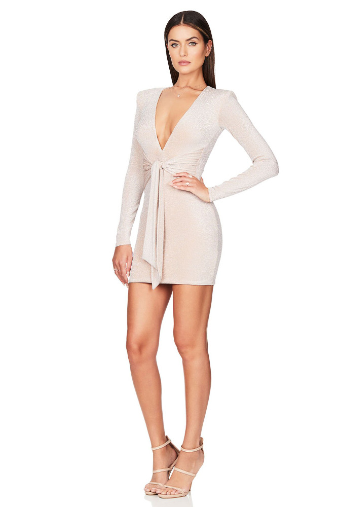 LUNA LONG SLEEVE MIDI NUDE - NOOKIE