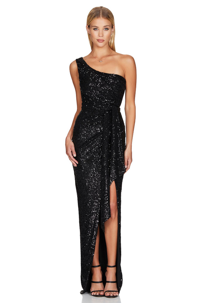 BLACK PALAZZO GOWN - NOOKIE