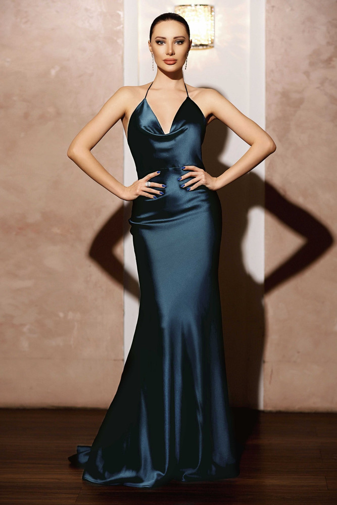 ROBYN GOWN TEAL JX103 - JADORE