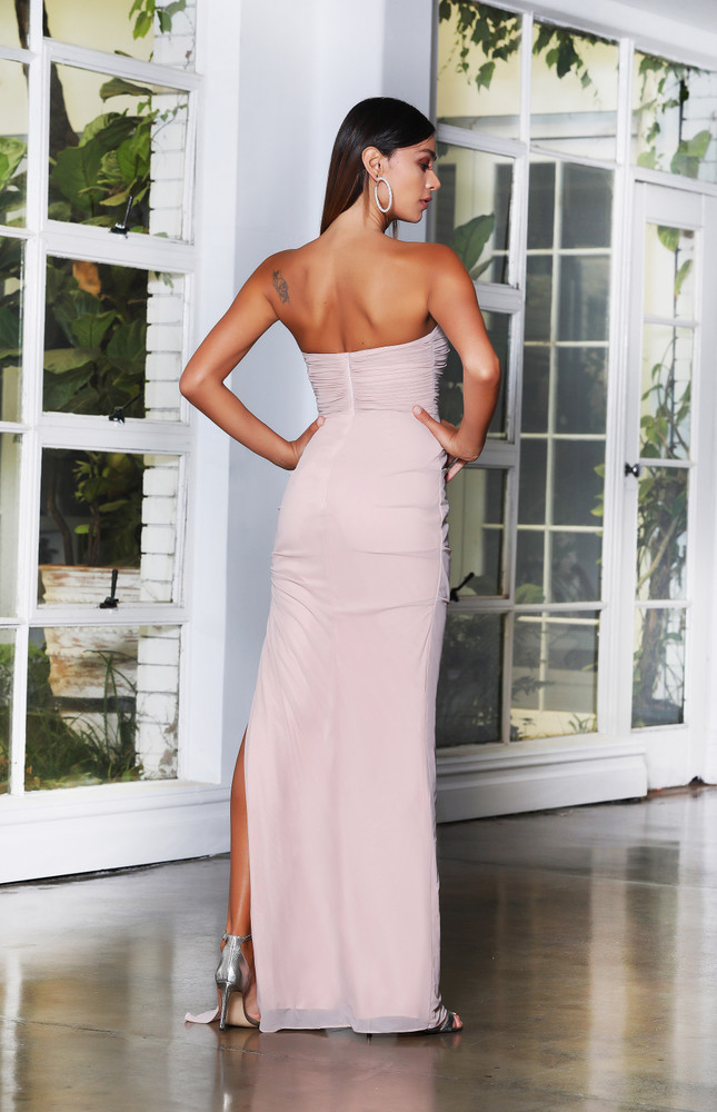 CLARA GOWN - DUSTY PINK