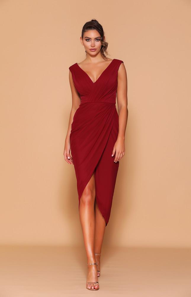 CLARINA MAROON DRESS LD1115 - LES DEMOISELLE